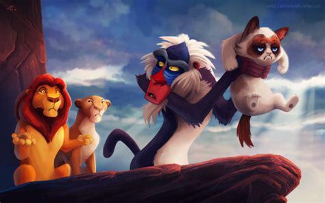 Lion King Cell Phone Meme - humor grumpy cat the lion king cat rafiki soft