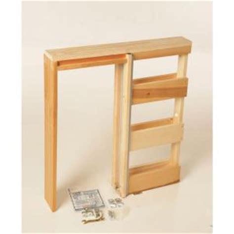 Home Depot Pocket Doors henry pocket frames 28 in knock wood pocket door
