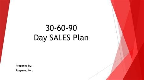 30 60 90 Day Sales Action Plan 30 60 90 Day Sales Plan Template Free Sle