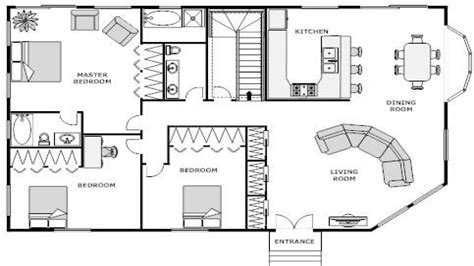 3 Bedroom Ranch Floor Plans by House Floor Plan Blueprint Simple Small House Floor Plans