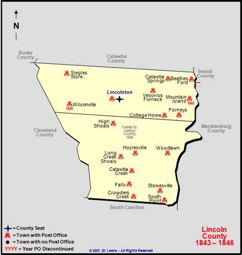 lincoln county nc lincoln county nc 1843 to 1846