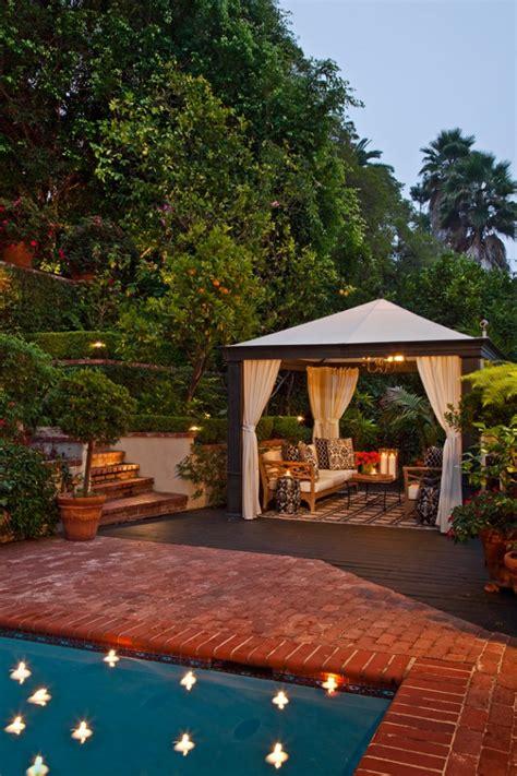 opulent transitional patio designs   spring