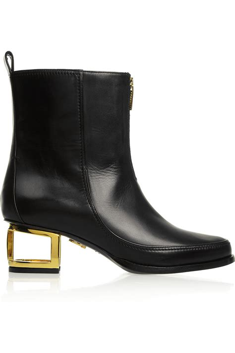 cutout boots maiyet cutout heel leather ankle boots in black lyst