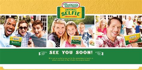 Famous Sweepstakes - nathansselfie com nathan s famous original selfie sweepstakes