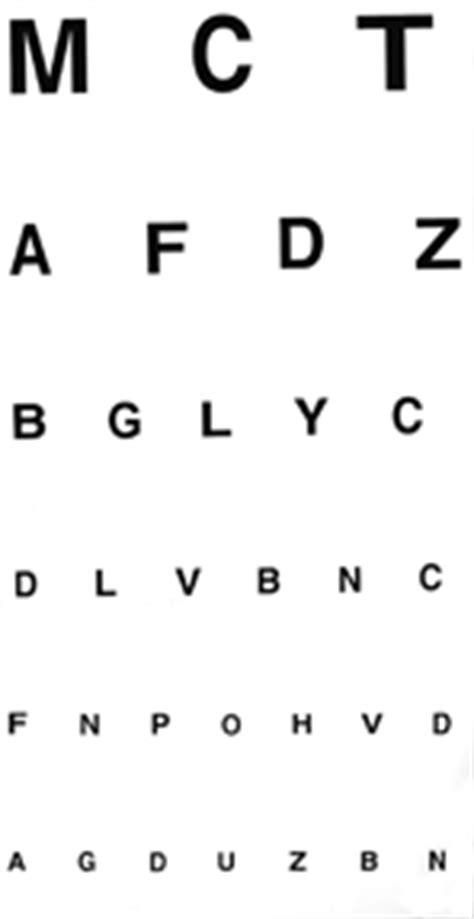 tabella oculistica lettere rieducazione visiva visual dott marco bettin