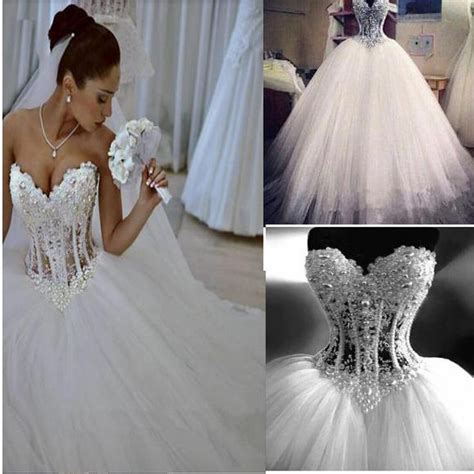 Corset Wedding Dresses by Sparkly Gown Corset Wedding Dress With