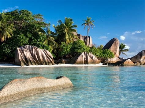 seychelles tropical islands south africa sea shores beach
