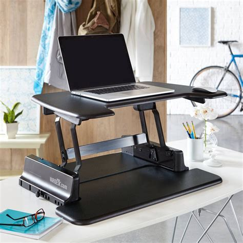 Office Standing Desk Varidesk Laptop 30 Height Adjustable Standing Desks Laptop Desk Office Desk Ebay