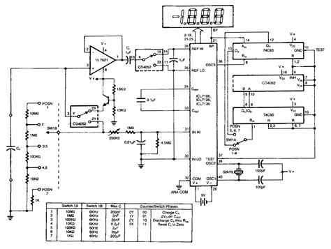 capacitance meter schematic diagram digital ad capacitance meter circuit diagram world