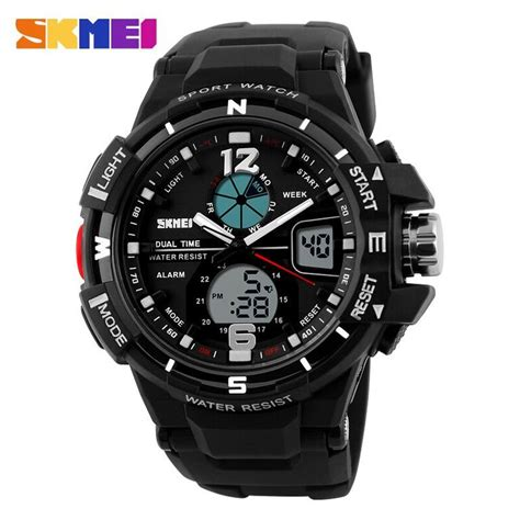 Skmei Jam Tangan Digital Analog Pria Ad1157 Black T3010 2 skmei jam tangan sporty digital analog pria ad1148 black white jakartanotebook