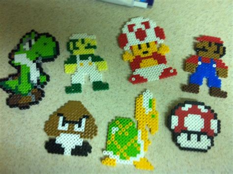 how to make out of perler mario characters made out of perler by chapin