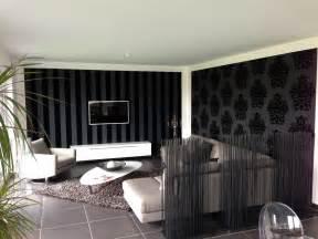 Wohnzimmer Grau Schwarz Weis Heimwerker Renovieren Tapeten Selber Tapezieren