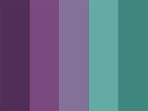 purple color schemes teal and purple color palette