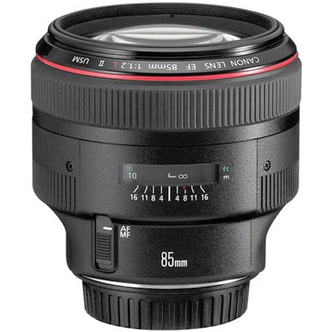 canon 85mm f1.2l ef mark ii usm auto focus telephoto lens