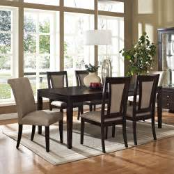silver wilson 7 piece 60x42 dining room set in espresso on sale online