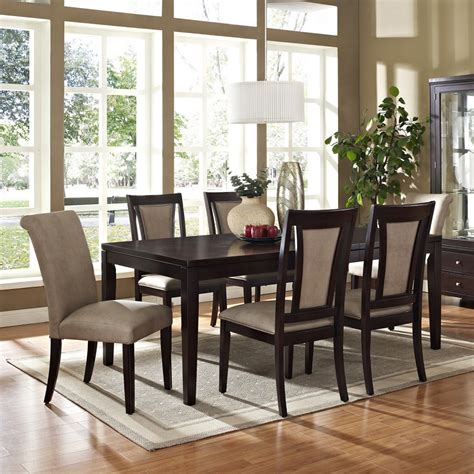 espresso dining room set steve silver wilson 7 60 215 42 dining room set in