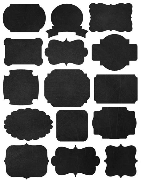 chalkboard templates doodlecraft freebies printables labels and chalkboard fonts