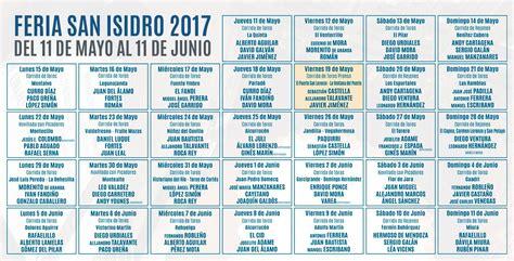 Calendario Taurino 2017 Carteles De La Feria De San Isidro 2017 Toroalcarria
