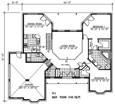 large master bathroom floor plans retirement house plan 1 story 2 bedrooms open floor plan large closet master bath