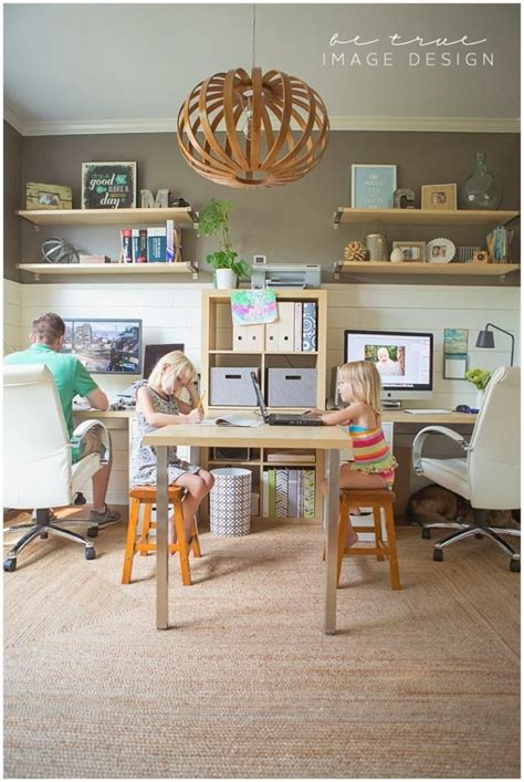 Family Home Office | belle maison inspiration snapshot chic family home office