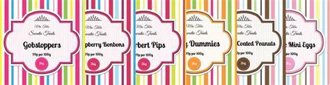 sweet labels template vibrant quot stripe quot sweet jar label ideas aa labels