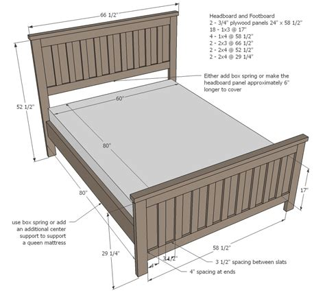 Bed Frame Measurements Size Bed Frame Dimensions Decorate My House