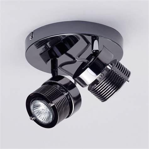 Kitchen Ceiling Plate Lights 2 Light Cylinder Ceiling Spotlight Plate Black From