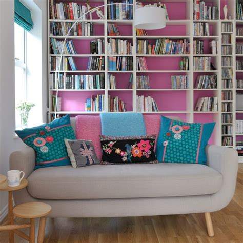 Living Room Shelving Ideas Painted Shelving Colourful Living Room Ideas 20 Of The