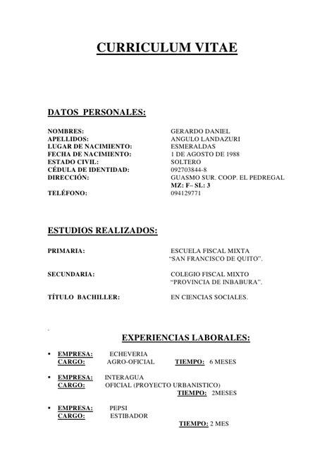 Modelo De Curriculum Deportivo Karate Curriculum Vitae