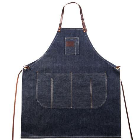 Appron Celemek Denim ubi ind apron selvedge denim and leather ubi ind denim selvedge kitchen