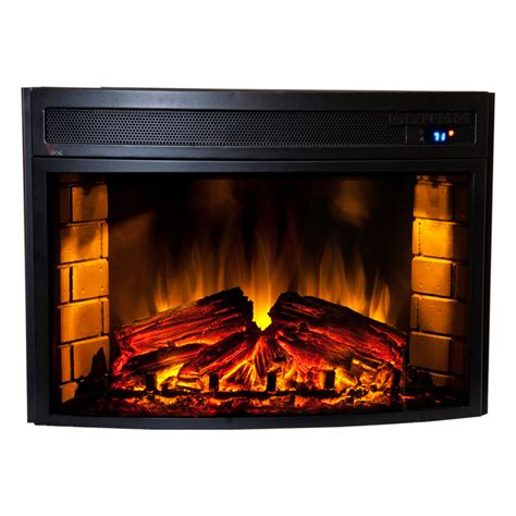 Electric Fireplace Logs Comfort Smart Verve 24 In Curved Electric Fireplace Insert Cs 501625