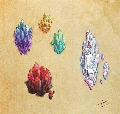 watercolor tattoo wrocław watercolor crystals by momopaw on deviantart