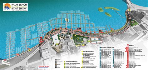 boat show 2017 map overview maps at palm beach international boat show 2016