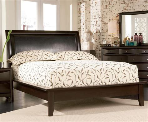 espresso bedroom sets espresso platform bedroom set pheonix collection
