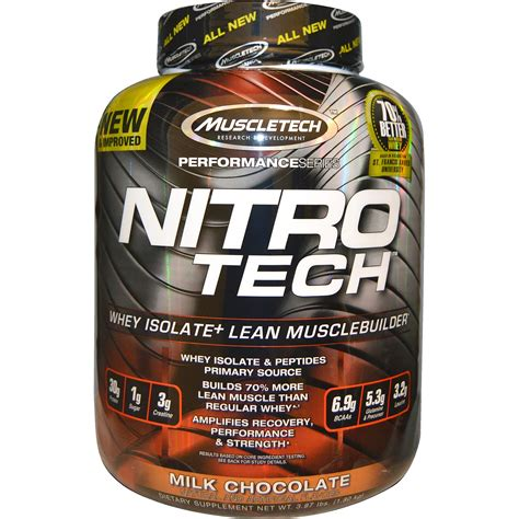 muscletech performance series nitro tech whey isolate lean musclebuilder milk chocolate 3