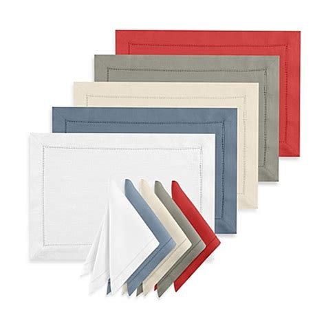 bed bath and beyond napkins waterford 174 linens addison 100 linen placemat and napkin