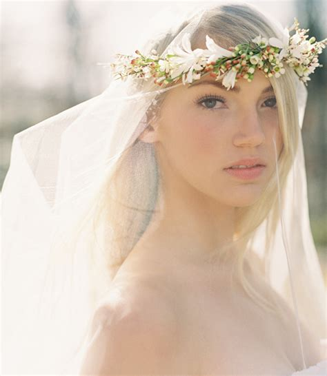 Wedding Hair With Veil And Flower by Diy Wedding Flower Crown A Drop Veil Once Wed
