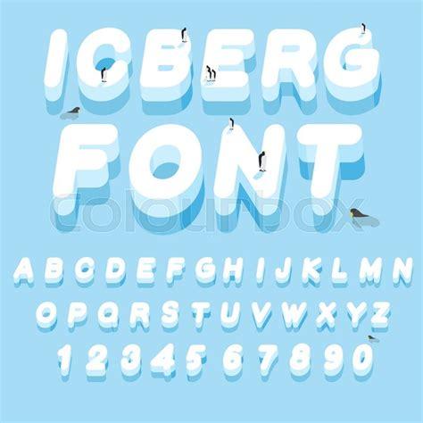 up letter to snow iceberg font 3d letters of alphabet letter abc