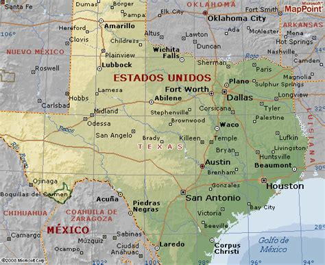 houston mapa estados unidos mapa estado de mapa geografico de en los