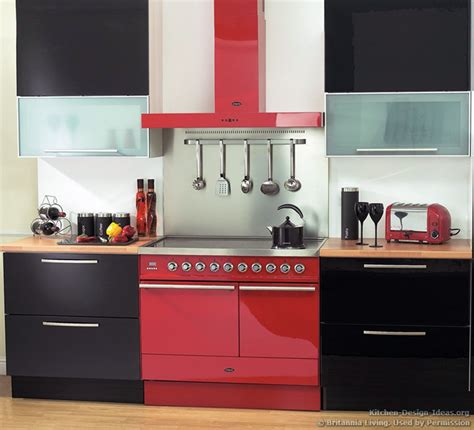 Red And Black Kitchen Ideas red and black kitchen decorating ideas interior
