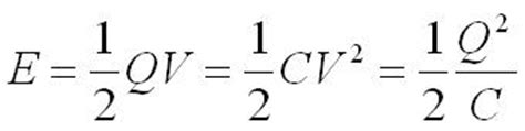 capacitor potential energy equation capacitance aqa module 4