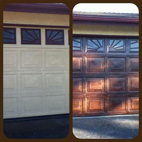Faux Wood Finish On Garage Door Diy Pinterest Faux Finish Garage Doors