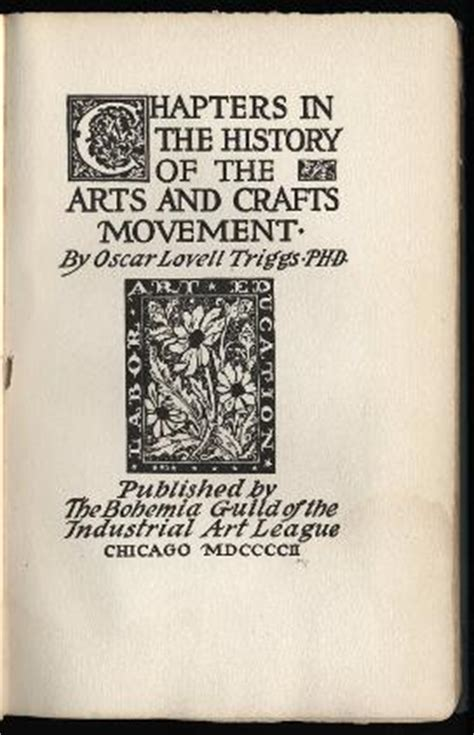 chapters in the history of the in the isles classic reprint books chapters in the history of the arts and crafts movement