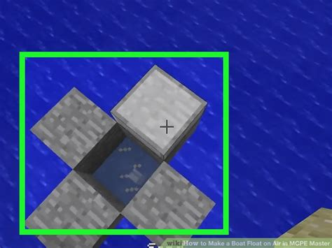 how to make a boat float how to make a boat float on air in mcpe master 6 steps