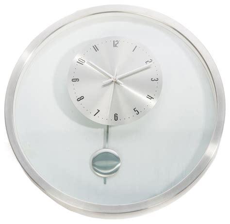 pendulum wall clock modern hsn 20 inch kartell mid century modern pendulum wall clock
