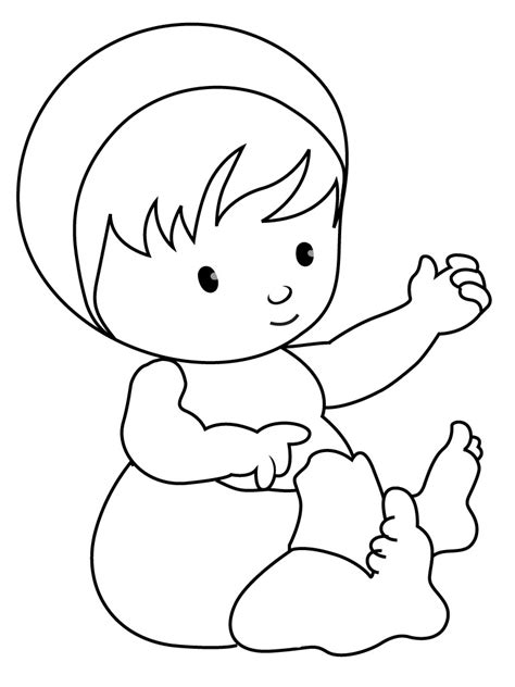 coloring pages cute baby free printable baby coloring pages for kids