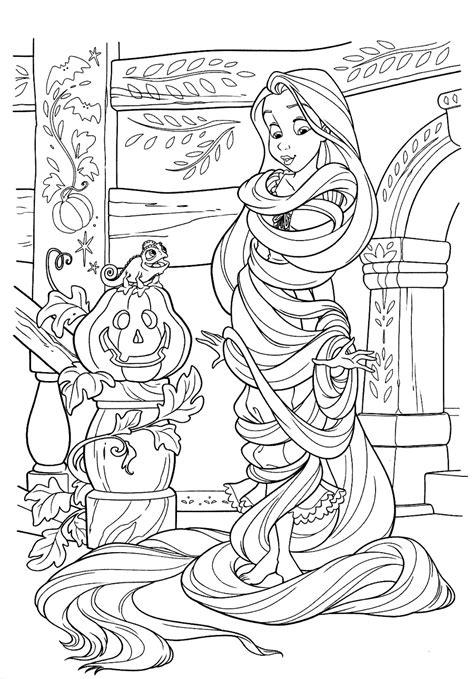 free printable disney fall coloring pages rapunzel ad halloween disegni da colorare gratis disegni