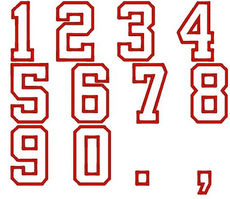 font number player numbers font varsity collegiate machine