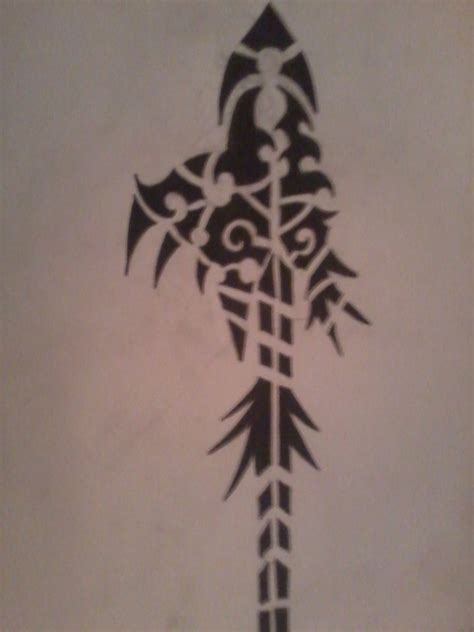 tribal spear tattoo tribal spear by valdric vonulrich on deviantart