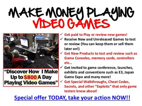 How To Make Money Gaming Online - make money playing games online for free